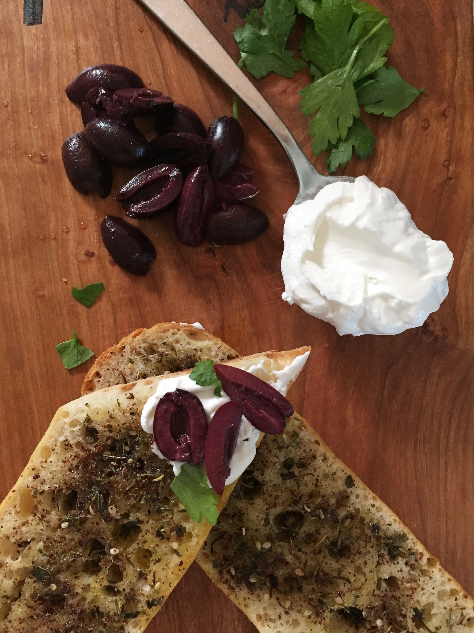 NEW WAYS to 'TOAST' Olive, Labneh, and Za'atar // laurenariza.com // RECIPE SCHMECIPE